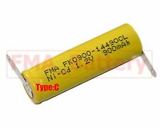 10Pcs Ni-Cd AA 1.2V 900mAh Rechargeable Battery  Nickel Cadium cell 14*49mm U/R