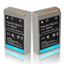 2x PS-BLS5 Battery for Olympus PEN E-P3 EP3 E-PL2 EPL2 E-PL3 EPL3 E-PM1 EPM1 NEW