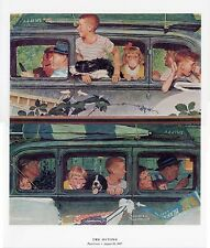 Norman Rockwell Family Holiday Print THE OUTING