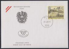 Österreich Austria 1990 FDC Mi.1985 Landschaft Landscape Windrad mill [af187]