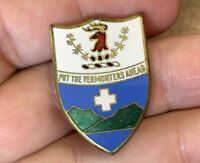 "Vintage ""Put the Vermonters Ahead"" Gold-Tone & Enamel Pin"
