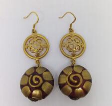 Red/Gold Venetian Glass Drop/Dangle Earring