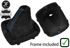 BLUE STITCHING SUEDE MANUAL GEAR BOOT WITH PLASTIC FRAME FOR AUDI A1 2010-2016
