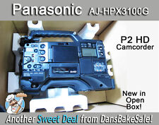Panasonic AJ-HPX3100G P2 HD Memory Card Camera Recorder Open Box 1 Year Warranty