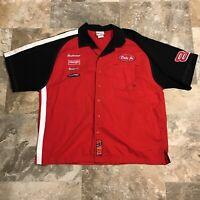 VTG Chase Authentics XL Dale Earnhardt Jr 8 NASCAR Racing Crew Button Shirt. Cl1