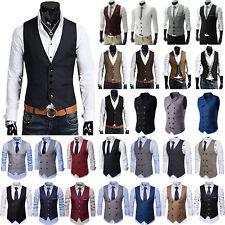 Men's Formal Business Wedding Slim Fit Dress Vest Suit Tuxedo Waistcoat Outwear