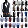 Mens Party Formal Wedding Waistcoat Slim Fit Dress Vest Casual Coat Tops Blazer