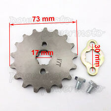 420 17 T 17mm Front Engine Sprocket Fit ATV 50cc-160cc Pitster Pro Pit Dirt Bike