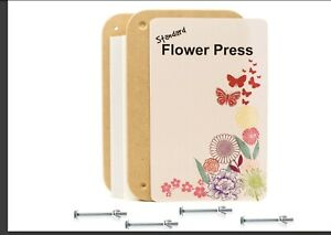 Standard Traditional Flower Press Deluxe Wooden Kit Made Of Sturdy MDF Board
