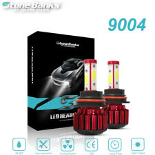 4-Side 9004 COB HB1 LED Headlight Kit Conversion Lamps High Low Beam Bulbs 6000K
