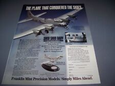 VINTAGE..B-17G SHOO SHOO BABY (FRANKLIN MINT)..1-PAGE SALES AD..RARE! (901R)