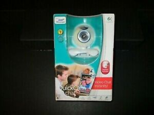 Logitech Quickcam Web Cam & headset. White with blue accents