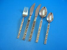 "Interpur  Stainless Flatware ""MEXICALLY ROSE ""Dinner Knives & Salad Fork  Spoons"