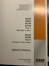 Case Compact Track Skid Steer Loader Service Manual