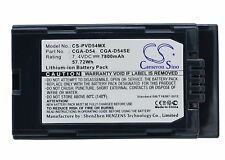 NEW Battery for Panasonic AG-DVC180A AG-DVC30 AG-DVC30E CGA-D54 Li-ion UK Stock