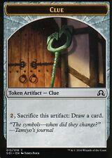 4x Clue Token - Version 5 | NM/M | Shadows over Innistrad | Magic MTG