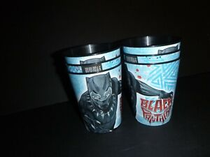 Set 6 Black Panther Marvel Superhero Avengers 16 oz. Plastic Cups