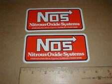 Nitrous Oxide Systems NOS NHRA drag racing hot rod sticker decal Cypress CA 2pcs