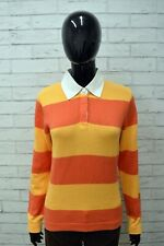 Polo Maglia Donna TOMMY HILFIGER Taglia M Felpa Fantasia a Righe Shirt Woman