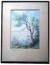 1950-1999 Original-direkt-vom-Künstler Gemälde über Landschaften & Städte (1950-1999) für Aquarell