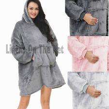Hoodie Blanket Oversized Plush Sherpa Reverse Big Hooded Sweatshirt Teens/Adults