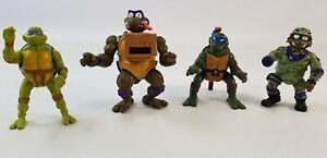 Teenage Mutant Ninja Turtles TMNT Playmates Figure Bundle Leo Don Military