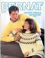 Vintage 1987 Country Casuals Knitting Patterns - Bernat Book No. 600 - 5 Designs