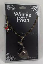 New Disney Winnie The Pooh Hunny Honey Pot Pendant Charm Necklace NWT