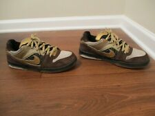 b7fb4f5f7a4b92 Classic 2008 Used Worn Size 10.5 Nike 6.0 Oncore Skateboard Shoes Brown Gold