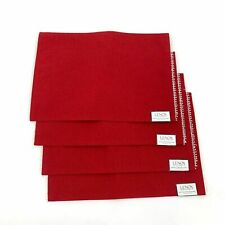 4 Piece Lenox French Perle Red Table Placemats NEW
