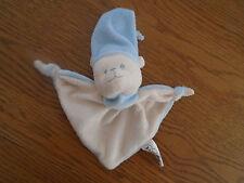Baby Nova teddy bear comfort blanket.Blue & cream. Baby boy