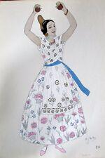 ESPAGNE COSTUMES TRADITIONNEL FOLKLORE LOT de 8 GRAVURES de GALLOIS de 1939