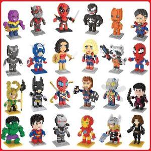 Superhero Sets Mini Nano Micro Diamond iBlock Building Blocks Education DIY Toy
