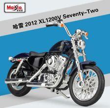 1 18 Maisto Harley Davidson 2012 Xl1200v Seventy-two Blue Bike Motorcycle