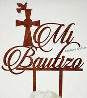 BAUTIZO CAKE TOPPER CENTROS PARTY DECORATIONS FAVORS BAPTISM RECUERDOS CROSS