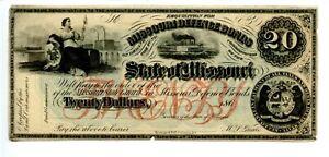 $20    1860s  State of Missouri Defense Bond.