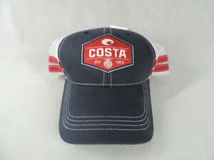 New Costa Reel Trucker Hat Snapback Navy