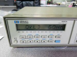 HP 3457A Digital Multimeter Free Shipping !