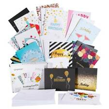 Pack of 24 Creative Golden Birthday Greeting Card Foldable with 26pcs Envelopes