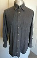 Mens Vintage Thomas Pink Grey Long Sleeved Casual Shirt - Size Medium FREE P&P!