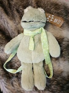 Cute Plush Frog Backpack With Tags As New
