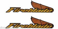 1000RR 900RR CBR FIREBLADE moto custom autocollant graphique x 2 STYLE 04 Or