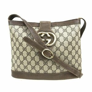 100% Authentic GUCCI GG Canvas Shoulder Bag [Used] {09-102C}