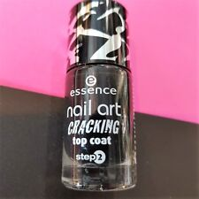 ESSENCE nail art cracking top coat CRACK ME! BLACK  8ml smalto GOTHIC PUNK EMO