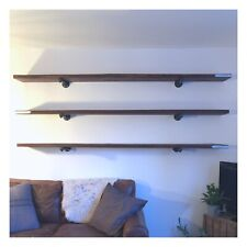 Industrial Style Reclaimed Scaffold Board Sheving Upcycled Floating Shelf