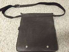 Wilson's Leather Cross Body Messenger Bag Lots of Compartments Nice BROWN