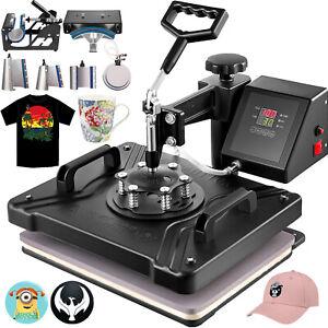 "8 in 1 Heat Press 12""x15"" Transfer Printing Machine Printer T-Shirt Sublimation"