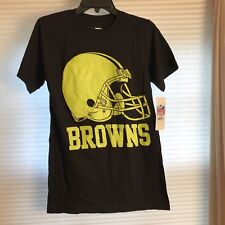 Cleveland Browns NFL Team Apparel Neon Logo T Shirt Size Small NEW W/ TAGS