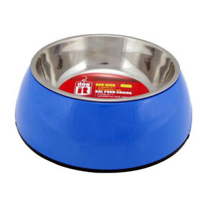 Dogit - 2 in 1 Dog Bowl - Stainless Steel - 4 Colours
