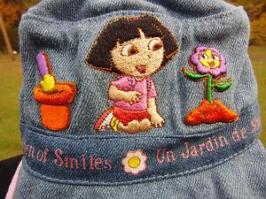 NEW Nick Jr Dora Blue Denim Hat Infant Toddler Girls